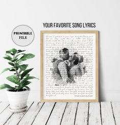 Custom Lyric Art Vows Personalized Gift, 1 Year Anniversary gift for Him, Her Song Lyrics Wall Art Paper Anniversary Gift for her PRINTABLE Custom Lyric Art 1 Year Anniversary gift for him Song Lyrics 2 Year Anniversary Gifts For Him, Homemade Anniversary Gifts, First Wedding Anniversary, Valentines Day Gifts For Him, 4th Anniversary, Marriage Anniversary, Husband Anniversary, Personalized Anniversary Gifts, Anniversary Gifts For Couples