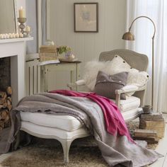 I would love to turn the corner of my bedroom into a little reading spot.