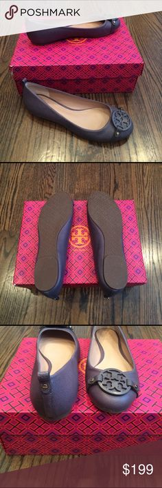 Tori Burch new shoes New and never worn Tory Burch flats. Dark Gray. Tory Burch Shoes Flats & Loafers
