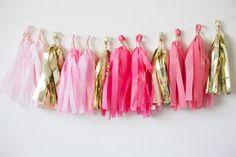 Tassel garland great for baby girl nursery decor, dorm decor, party decor, birthday party dcecor!
