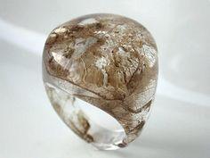 Ringe - Gr.58 Ring / Blattfragmente - ein Designerstück von patamaker bei DaWanda