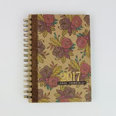 Notebook cover using Delicate Details Stamps by Tonic Studios