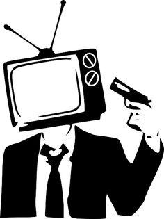 Television: My job is to help destroy what's left of your imagination by feeding you endless doses of sugar-coated mindless garbage. Tachisme, Illuminati, Object Heads, Tv Head, Pop Art, Fear Of Flying, Political Art, Political Cartoons, Think
