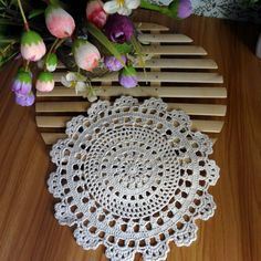 Aliexpress.com : Buy 100% Cotton Hand Made Crochet Doilies Cup Mat ...