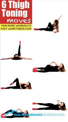 Leg and Thigh Toning Workout - This floor based leg sculpting workout is easy to simply do each move for 30 seconds, then swap to the other leg. These 6 bodyweight moves tone your inner thighs, outer thighs and also help lift and sculpt your booty. Fitness Workouts, Training Fitness, Gewichtsverlust Motivation, Fitness Workout For Women, Yoga Fitness, At Home Workouts, Health Fitness, Fitness Expert, Arm Workout Women No Equipment