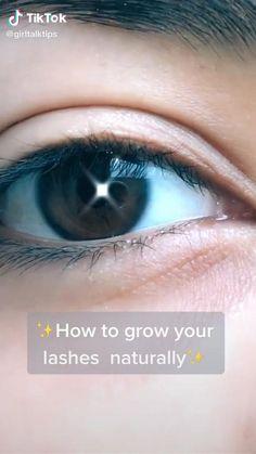 Make Eyelashes Longer, Get Long Eyelashes, How To Grow Eyelashes, Eyelash Growth Serum, Eyebrow Growth, Eyelash Tips, Hair Care Recipes, Healthy Skin Tips, Natural Hair Care Tips