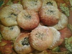 Show details for Recept - Moravské koláčky Bagel, Doughnut, Sushi, Muffin, Bread, Breakfast, Ethnic Recipes, Food, Education