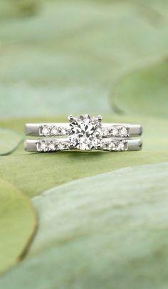 Gorgeous matched set featuring pavé diamond accents