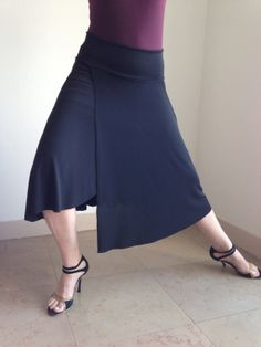 Asymmetric Tango skirt heavy black by BellaTango on Etsy, €70.00
