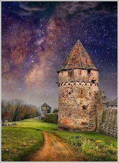 The two towers Bergheim – Alsace – France