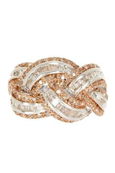Savvy Cie Braided Champagne & White Diamond Ring - 1.25 ctw by Savvy Cie on @HauteLook
