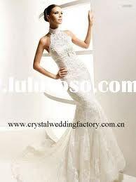 wedding dresses mermaid halterneck - Google Search