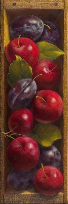 Denise Mickilowski | OIL | Crab Apple and Prune Plums