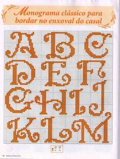 Anna Ponto Cruz: Para minha amiga Karilla (entire alphabet - upper & lower cases)