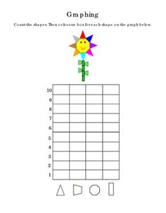 Kindergarten+Math+Graphing+Shapes+Numbers+Up+to+8+Tools+for+Common+Core.+Life+Skills.+Triangles+Octagon+Trapezoids+Rectangles.+Colors.+Critical+Thinking.+Emergent+Reader.+2+pages.+