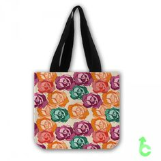 Cheap roses color flowers seamless pattern Tote Bags