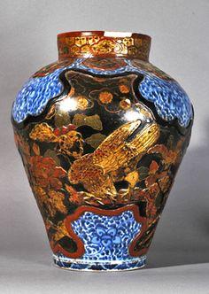 Imari vases with lacquer decoration, circa 1700