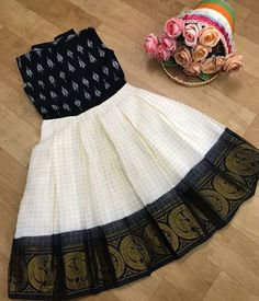 To order dm or WhatsApp 9150144329 Black & white Sungudi & ikkat combo Custom. - To order dm or WhatsApp 9150144329 Black & white Sungudi & ikkat combo Customize to all sizes fr - Baby Frocks Designs, Kids Frocks Design, Kids Gown Design, Girls Frock Design, Baby Dress Design, African Dresses For Kids, Dresses Kids Girl, Baby Dresses, Bridesmaid Dresses