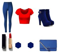 """""""Women Casual Red&Blue"""" by majstor1995 ❤ liked on Polyvore featuring Chanel, Wolf & Moon and MICHAEL Michael Kors"""