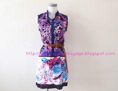 Brielle Scarf Print Tunic - RM65