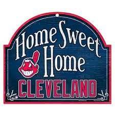 Cleveland Indians Home Sweet Home Sign
