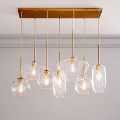 Sculptural Glass 7-Light Chandelier - Mixed | west elm