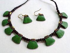 Craftsvilla - Terracotta Jewellery Set with earings-petals ...