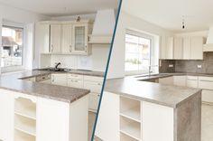 Küchenrenovierung Led Spots, Kitchen Island, Home Decor, Old Kitchen, Simple, Island Kitchen, Decoration Home, Room Decor, Home Interior Design