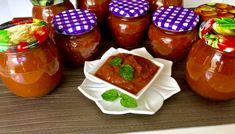 Słodko-kwaśny sos z cukinii Ketchup, Salsa, Food And Drink, Pudding, Jar, Blog, Desserts, Salsa Music, Restaurant Salsa
