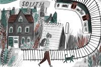 The Walk Home - About Today - Illustration by Lizzy Stewart
