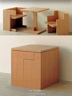 space saver stool and table combo