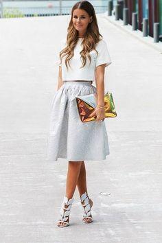 Midi Skirts - Top Fashion Corner   white