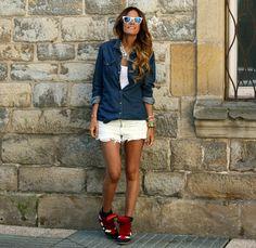 short e jeans