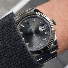 Shades of grey  DATEJUST II Ref 116334 | http://ift.tt/2cBdL3X shares Rolex Watches collection #Get #men #rolex #watches #fashion