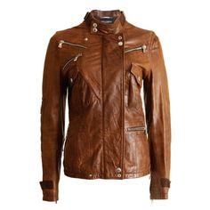 60er Jahre Marine blau Lederjacke Damen Mantel Größe Medium