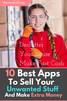 Free apps that help you make money with your unwanted stuff sell-your-st Tired of waiting? Here's a list of websites and apps that will help you with your financial needs. These are jobs-that-pay-weekly , work at home, money making apps, part time jobs, work online, side jobs, make money from home, make money fast. uff