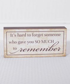 Look what I found on #zulily! 'Remember' Box Sign by Adams & Co. #zulilyfinds