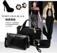 New 2015 women handbags leather handbag women messenger bags ladies brand designs bag bags Handbag+Messenger Bag+Purse 3 Sets-in Shoulder Bags from Luggage & Bags on Aliexpress.com | Alibaba Group