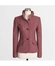 NEW $188 J.Crew Women's Tweed Blazer, Size 4 RED B5102 Work Casual Suit Jacket #JCrew #Blazer