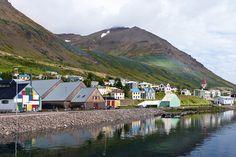 Fishing town Siglufjordur, Iceland