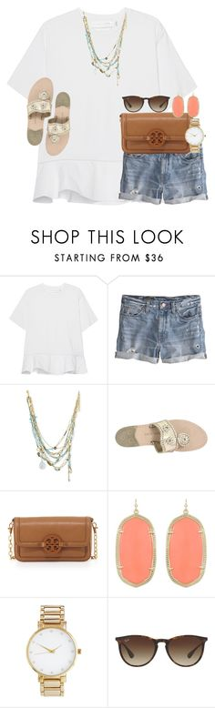 """""""when someone u don't like wants to hang"""" by thefashionbyem ❤ liked on Polyvore featuring Victoria, Victoria Beckham, J.Crew, Alexis Bittar, Jack Rogers, Tory Burch, Kendra Scott, ASOS and Ray-Ban"""