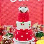 Detalhes dos bolos decorados da festa do picnic