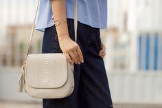 GiGi New York | With or Without Shoes Fashion Blog | Bone Kelly Saddle Bag