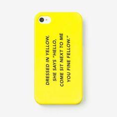 kate spade Saturday yellow fellow phone case