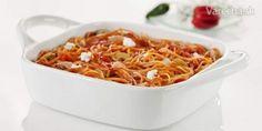 Zapečené špagety s tuniakom - Recept