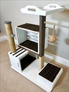 Diy Cat Tower, Homemade Cat Tower, Cat House Diy, House For Cats, Cat Tree House, Mother Daughter Projects, Mother Daughters, Mom Daughter, Diy Casa