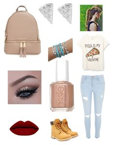 """""""Untitled #42"""" by ivamiksic ❤ liked on Polyvore featuring River Island, Timberland, MICHAEL Michael Kors, Rock 'N Rose, Essie, women's clothing, women's fashion, women, female and woman"""