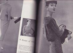 1956 Vogue Pattern Book / Evelyn Tripp (r), model