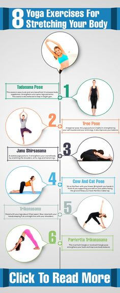 8 Yoga Exercises For Stretching Your Body -: Yoga is all about stretching your body in different forms and meditation. When you see a book on yoga, all the pictures given are of yoga gurus stretching their hands Physical Fitness, Yoga Fitness, Health Fitness, Qi Gong, Yoga Sequences, Yoga Poses, Corps Yoga, Sup Yoga, Yoga Exercises