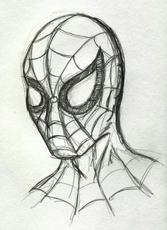 Pencil Drawing Spiderman drawing - Visit to grab an amazing super hero shirt now on sale! Superhero Sketches, Drawing Superheroes, Marvel Drawings, Disney Sketches, Disney Drawings, Cartoon Drawings, Easy Pencil Drawings, Art Drawings Sketches, Sketch Art